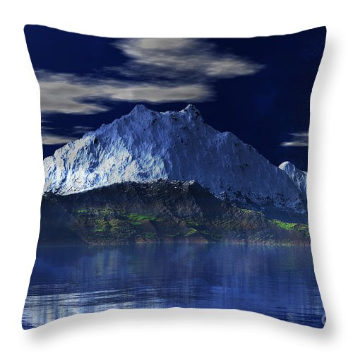 Mount Fuji Throw Pillow featuring the digital art Mount Fuji by Heinz G Mielke