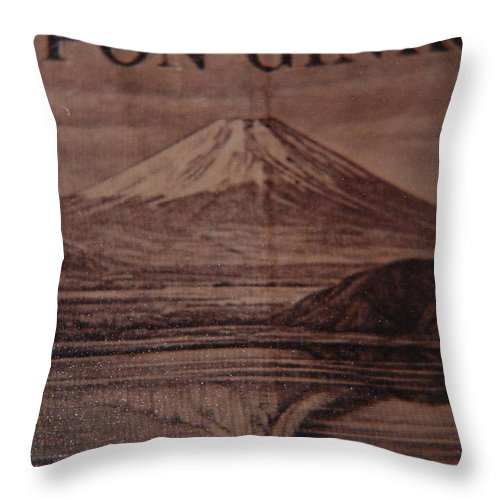 Mount Fuji Throw Pillow featuring the photograph Mount Fuji by Rob Hans