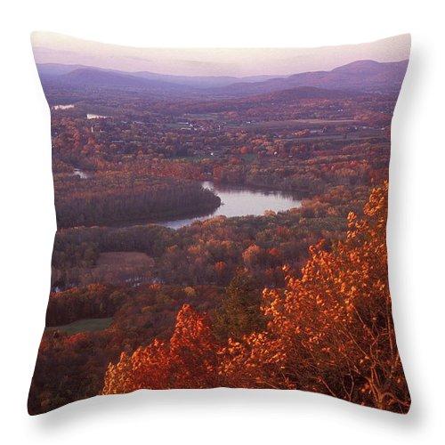 Mount Holyoke Throw Pillow featuring the photograph Mount Holyoke Foliage by John Burk