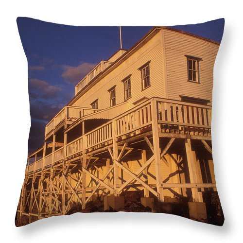 Mount Holyoke Throw Pillow featuring the photograph Mount Holyoke Summit House by John Burk