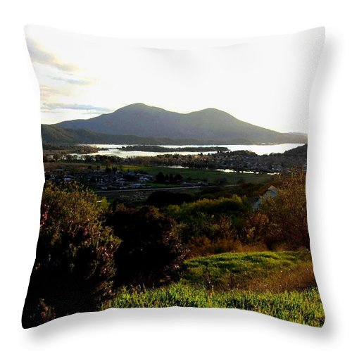 Mount Konocti Throw Pillow featuring the photograph Mount Konocti by Will Borden