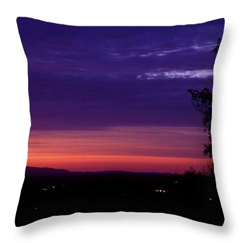 Mount Monadnock Throw Pillow featuring the photograph Mount Monadnock From Wachusett Mountain by John Burk