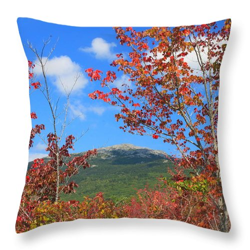 Red Maple Throw Pillow featuring the photograph Mount Monadnock Red Maple Foliage by John Burk