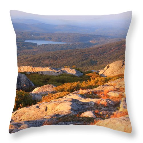 Mount Monadnock Throw Pillow featuring the photograph Mount Monadnock Summit View by John Burk