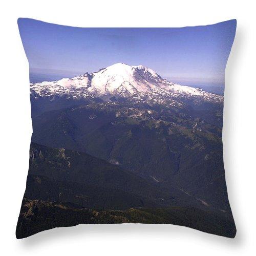 Mount Rainier Throw Pillow featuring the photograph Mount Rainier Washington State by Merja Waters