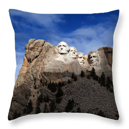 Mount Rushmore Throw Pillow featuring the photograph Mount Rushmore by Al Mueller
