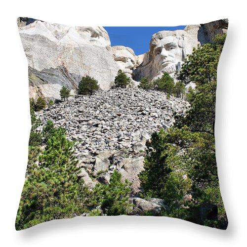 Mountain Throw Pillow featuring the photograph Mount Rushmore II by Teresa Zieba