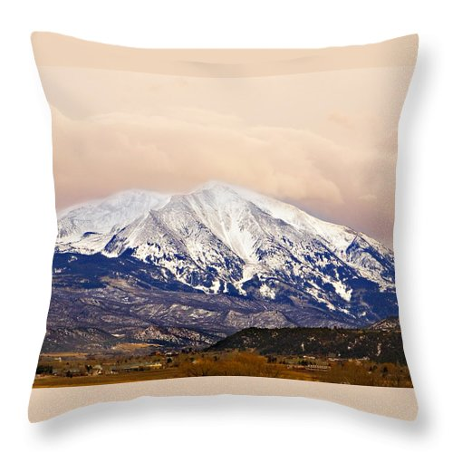 Americana Throw Pillow featuring the photograph Mount Sopris by Marilyn Hunt