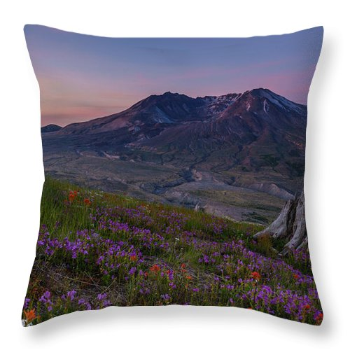 Spring Throw Pillow featuring the photograph Mount St Helens Renewal by Mike Reid