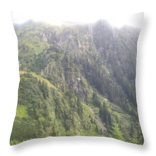 Throw Pillow featuring the photograph Mountain by Gabriel Gyorfi