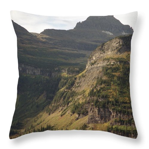 Glacier Throw Pillow featuring the photograph Mountain Glacier by Richard Rizzo