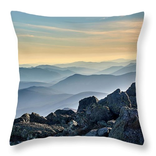 Mountain Throw Pillow featuring the photograph Mountain Layers by Dmitry Dreyer