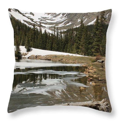 Nature Throw Pillow featuring the photograph Mountain Magic by Tonya Hance
