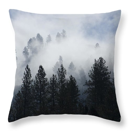 Fog Throw Pillow featuring the photograph Mountain Mist by Idaho Scenic Images Linda Lantzy