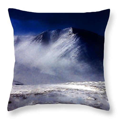 Mountain Throw Pillow featuring the photograph Mountain Of Alaska by Galeria Trompiz