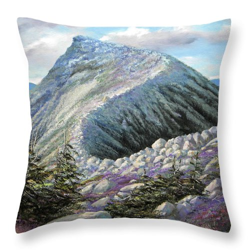Landscape Throw Pillow featuring the painting Mountain Ridge by Frank Wilson