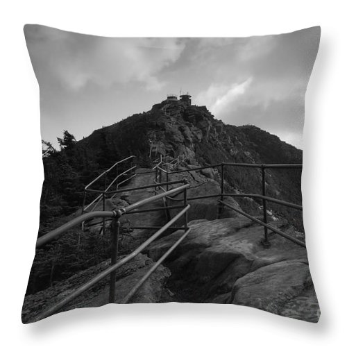White Face Mountain New York Throw Pillow featuring the photograph Mountain Trail by David Lee Thompson