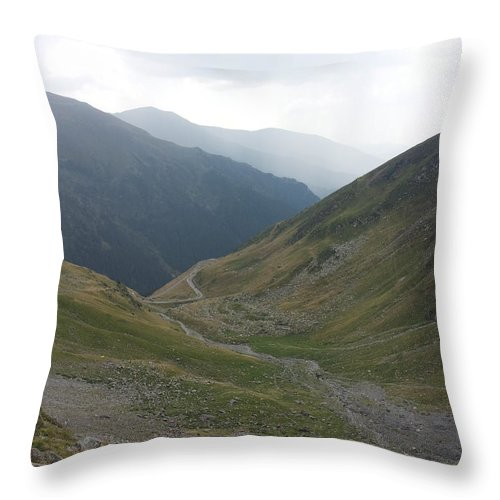 Throw Pillow featuring the photograph Mountain View by Gabriel Gyorfi