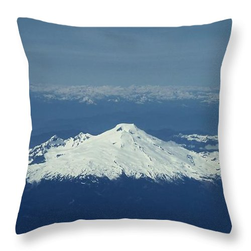 Mountain Throw Pillow featuring the photograph Mountain View Panorama by Patricia Strand