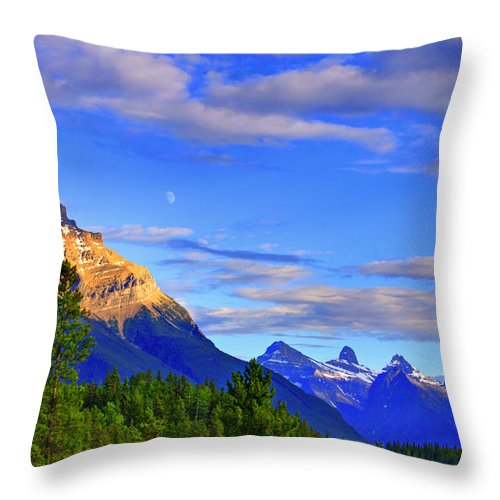 Mountain Throw Pillow featuring the photograph Mountain View by Scott Mahon