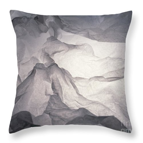 Abstract Throw Pillow featuring the photograph Mountains by Stefania Levi