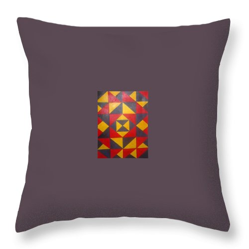 Abstract Throw Pillow featuring the painting Mountian Woman by Andrew Johnson