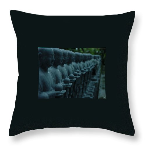 Statues Throw Pillow featuring the photograph Mourning Row by D Turner