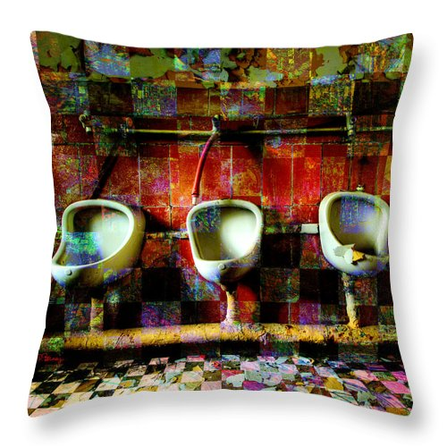 Marcel Duchamp Throw Pillow featuring the digital art Move Over Marcel by Barbara Berney