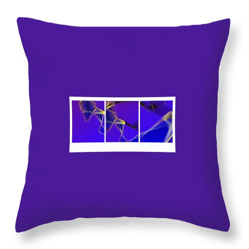 Abstract Throw Pillow featuring the digital art Movement In Blue by Steve Karol