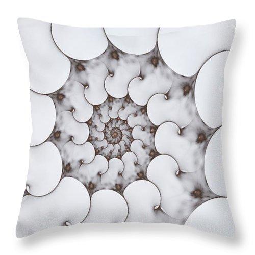 Fractal Throw Pillow featuring the digital art Movement Of Sorrow by Amorina Ashton