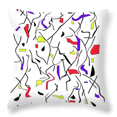 Modern Throw Pillow featuring the digital art Movement One by ME Kozdron