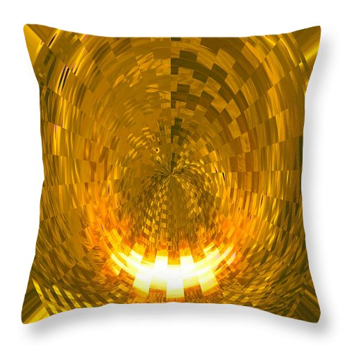 Moveonart! Digital Gallery Lower Nob Hill San Francisco California Jacob Kanduch Throw Pillow featuring the digital art Moveonart Abstract Retro Light Action 1 by Jacob Kanduch
