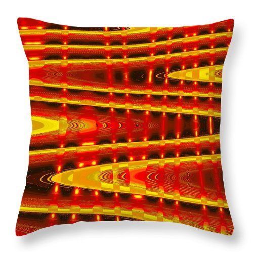 Moveonart! Digital Gallery Throw Pillow featuring the digital art Moveonart Abstract Waves And Light Five by Jacob Kanduch