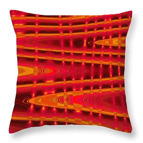Moveonart! Digital Gallery Throw Pillow featuring the digital art Moveonart Abstract Waves And Light Four by Jacob Kanduch