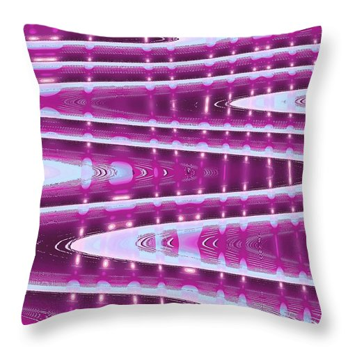 Moveonart! Digital Gallery Throw Pillow featuring the digital art Moveonart Abstract Waves And Light One by Jacob Kanduch