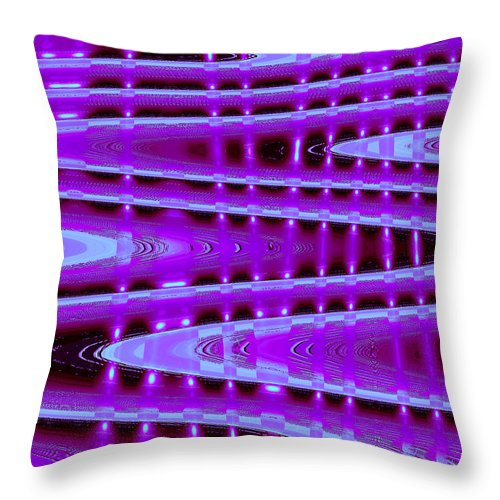Moveonart! Digital Gallery Throw Pillow featuring the digital art Moveonart Abstract Waves And Light Seven by Jacob Kanduch
