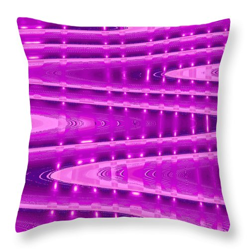 Moveonart! Digital Gallery Throw Pillow featuring the digital art MoveOnArt Abstract Waves And Light Six by Jacob Kanduch