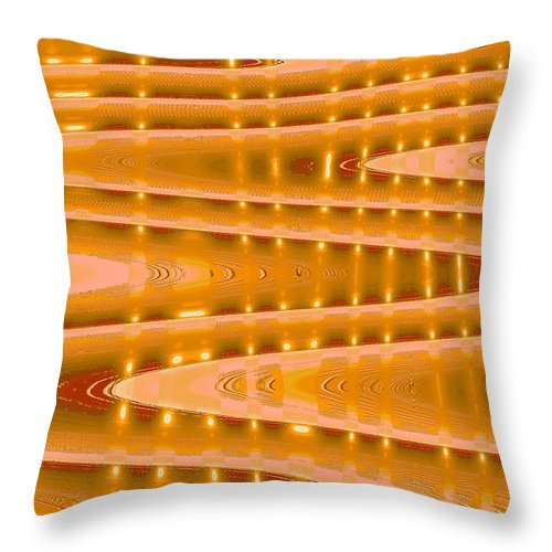 Moveonart! Digital Gallery Throw Pillow featuring the digital art Moveonart Abstract Waves And Light Three by Jacob Kanduch