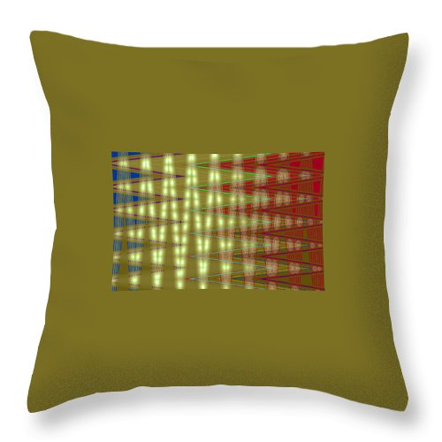 Moveonart! Digital Gallery Throw Pillow featuring the digital art Moveonart Amplify Your Creativity Two by Jacob Kanduch