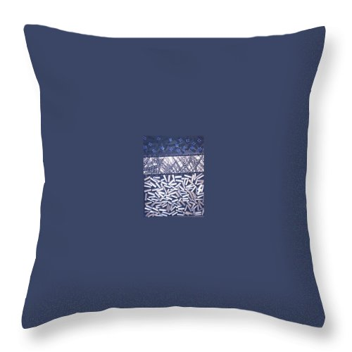 Moveonart! Digital Gallery Throw Pillow featuring the painting Moveonart Awaiting The Storm by Jacob Kanduch