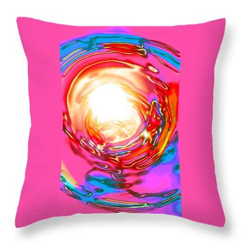 Moveonart! Digital Gallery Throw Pillow featuring the digital art Moveonart Beyond The Circumstance by Jacob Kanduch