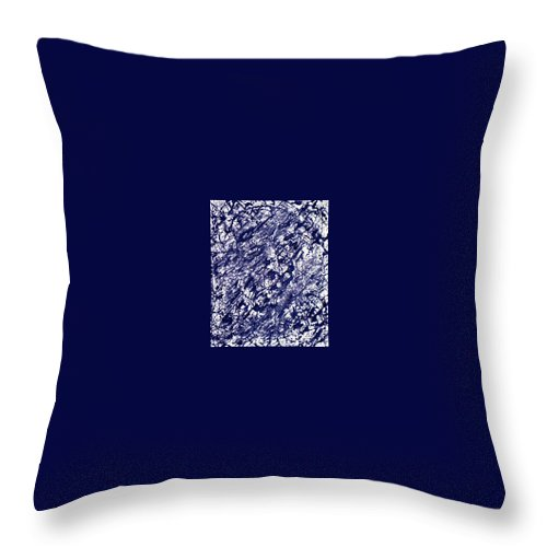 Moveonart! Digital Gallery Throw Pillow featuring the painting Moveonart Black And White Textured 2 by Jacob Kanduch
