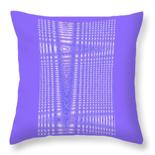 Moveonart! Digital Gallery Throw Pillow featuring the digital art Moveonart Blue Cross Cords by Jacob Kanduch