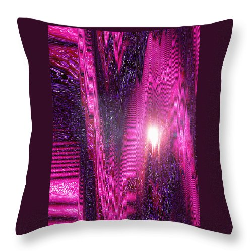 Moveonart! Digital Gallery Throw Pillow featuring the digital art Moveonart Changes Are Shifting Outside The World by Jacob Kanduch