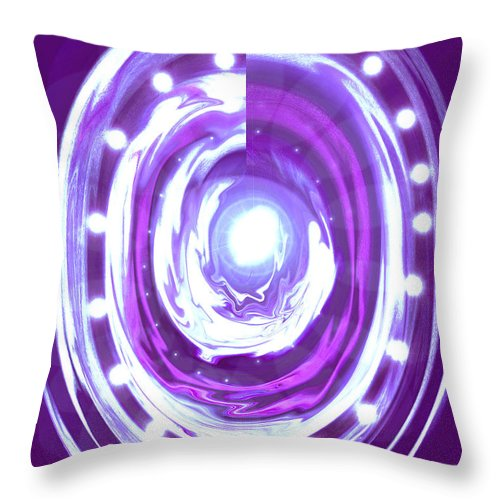 Moveonart! Digital Gallery Throw Pillow featuring the digital art Moveonart Christmas 2009 Collection Opportunity Light Wreath by Jacob Kanduch