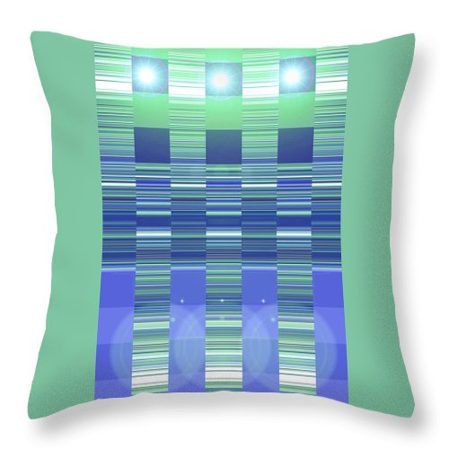 Moveonart! Digital Gallery Throw Pillow featuring the digital art Moveonart Color Duo Program Two by Jacob Kanduch