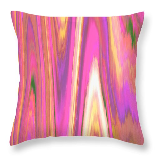 Moveonart! Digital Gallery Throw Pillow featuring the digital art Moveonart Color Mood Waves One by Jacob Kanduch
