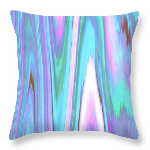 Moveonart! Digital Gallery Throw Pillow featuring the digital art Moveonart Color Mood Waves Two by Jacob Kanduch