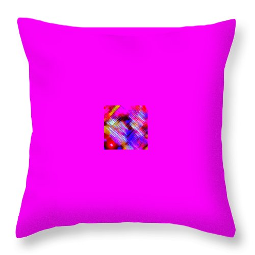 Moveonart! Digital Gallery Throw Pillow featuring the digital art Moveonart Colorful Fast Paced Evening by Jacob Kanduch