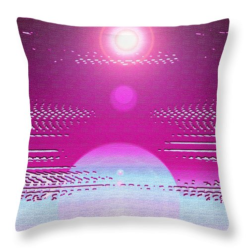Moveonart! Digital Gallery Throw Pillow featuring the digital art Moveonart Cosmic Centering II by Jacob Kanduch